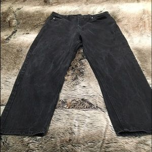 Wrangler 38x30 Relaxed Fit Distressed Wash Jeans